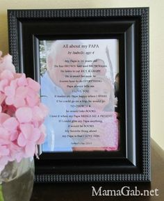 Sweet DIY gift idea for Father's Day or ANY Day:  LOVE this!