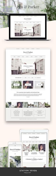A lifestyle blog with unique details and intentional styling in all the right places. Station Seven's WordPress Parker Theme.