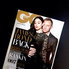 British GQ, November 2015 - Daniel Craig and Monica Bellucci - See more: www.condenastinternational.com/shop www.instagram.com/condenastworldwidenews email: cnwwn@condenast.co.uk for enquiries