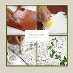 Einzigartige Strukturen mit unserer Crackle Paste erstellen und coole Dekoartikel im Used - Look designen! Rice Paper, Creative Products, Natural Materials, Crafting, Kids