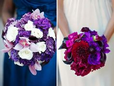 Vibrant bright colors on the right  Top 10: Purple Wedding Bouquets - Project Wedding Blog