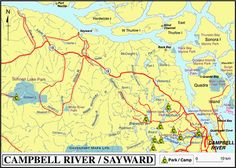 I lived in Sayward Discovery Island, Lake Park, Sunshine Coast, Vancouver Island, British Columbia, Vacation Ideas, River, Map, Adventure
