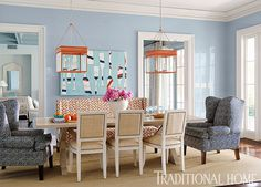 Florida Home with a Cool, Blue Palette | Traditional Home
