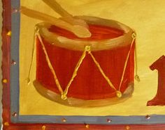 christmas, still life, gifts, oil painting twelve drummers drumming - artwork, painting, christmas, cards