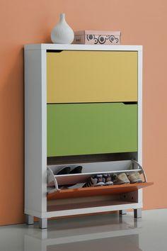 WholeSale Interiors Baxton Studio Simms White Modern Shoe Cabinet -