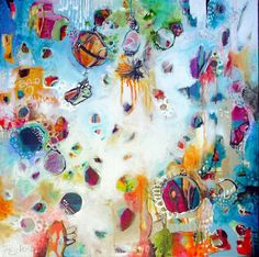 """Tracy Verdugo. 2012.The Navigation of a Common Thread. 76 x76cm. Acrylic/mixed media on canvas.  """"If we have no peace, it is because we have forgotten that we belong to each other.""""― Mother Teresa http://artoftracyverdugo.blogspot.com"""