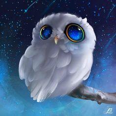 #Corujas ☆ Olhos Azuis ☆