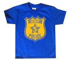Police Birthday Shirt boys birthday shirt police by FreshFrogTees
