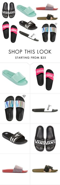 """""""Spring Slides"""" by misslolacakes on Polyvore featuring Melissa, Victoria's Secret, Aéropostale, Givenchy, adidas, Vans and Valentino"""