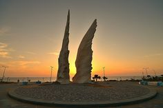 Wings, A Monument of Victory commemorating the triumph of the Red Army over Nazi Germany in World War II  Netanya, Israel