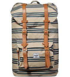 Herschel Supply Co.  Navy/Khaki Stripe Little America Backpack