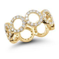 Diamond Circle Ring in Yellow Gold
