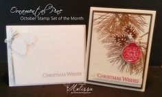 Stampin' Up! Ornamental Pine by Melissa Davies @ rubberfunatics - October Stamp Set of the Month