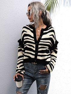 Cardigan Zebra | DMS Boutique Fashion News, Lisa, Plaid, Drop, Shoulder, Gingham, Tartan