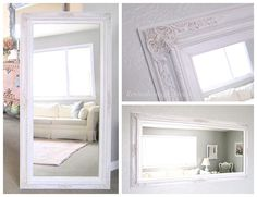 FULL LENGTH MIRROR For Sale White Baroque Framed by RevivedVintage, $329.00