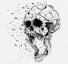 Cool+Drawings+Of+Exploding+Skull | Exploding Skull- Final by ~JustWithIt on deviantART