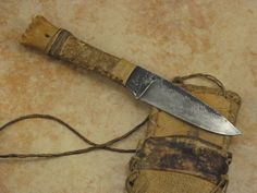 "Danny Winkler Neck Knife...rustic and unimaginably good. Famous Frontier knifemaker Daniel Winkler made all the knives for ""The Last of the Mohicans"" Movie"