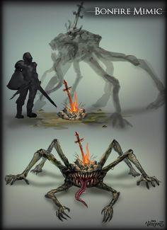 Omg. This would be the ultimate slap in the face. Finally didn't die from your journey up to this point. You fought undead, you conquered a mini boss. You even put down an invader. Out of estus flasks you slowly approach a corner, you see light and the comforting sound of crackling fire. Without hesitation you run up to rest and to take a moment of triumph...YOU DIED...tears