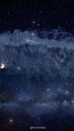 Moon And Stars Wallpaper, Night Sky Wallpaper, Star Wallpaper, Scenery Wallpaper, Cute Wallpaper Backgrounds, Ocean At Night, Stars At Night, Beautiful Wallpapers For Iphone, Live Wallpapers