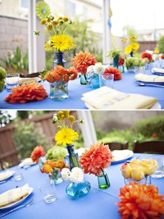 love the bright colors for this baby shower!
