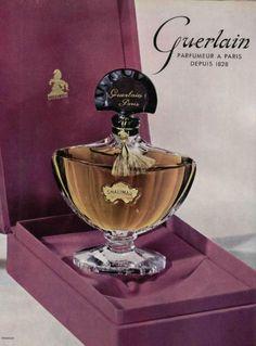 Shalimar, Guerlain, publicité de 1954.