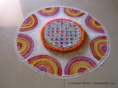 Beautiful and easy free hand rangoli | Creative rangoli design | Poonam Borkar rangoli designs - YouTube