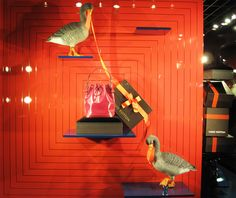 "Louis Vuitton ""The Goose Game"" Festive Holiday Window Displays ..."