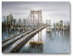 """Brooklyne Dawn"" Made with real metal wires on Canvas. Dawn, Original Art, Nyc, Wall Art, The Originals, Travel, Collection, Canvas, Metal"