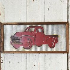 Granddad's Old Truck Washboard Wall Decor