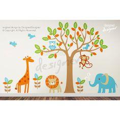 Muursticker safari boom bevat:- 1 grote boom ( kies 1 kleur),- Olifant, 3 vogels