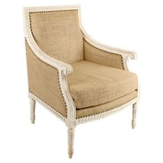 Isabelle Relax Chair #burlap #furniture #seating #tan #flax