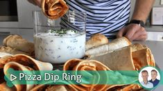 pizza dip ring Emoji Cake, Modeling Chocolate, Tzatziki, Pot Pie, Ham, Tapas, Stuffed Mushrooms, Pizza, Snacks