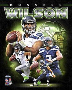 Russell Wilson PORTRAIT PLUS Seattle Seahawks QB Premium Poster Print - Photofile 16x20