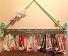 Headband Rack for Babys Nursery. Find me on Etsy under McD Baby Creations! Sell for 25.00!