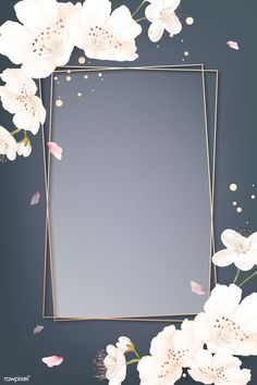 Rectangle cherry blossom frame vector | premium image by rawpixel.com / wan Flower Background Wallpaper, Framed Wallpaper, Frame Background, Pastel Wallpaper, Geometric Wallpaper, Flower Backgrounds, Background Patterns, Wallpaper Backgrounds, Fond Design