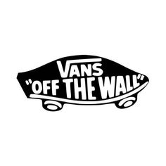 Vans Of The Wall Logo Vinyl Decal Sticker BallzBeatz . com - Vans Of The Wall Logo Vinyl Decal Sticker BallzBeatz . Bubble Stickers, Mirror Stickers, Cool Stickers, Printable Stickers, Tumblr Skate, Skate Logo, Brandy Melville Stickers, Black And White Stickers, Wall Logo
