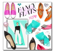 """""""Fancy Flats"""" by hellodollface ❤ liked on Polyvore featuring Del Toro, Christian Louboutin, Roger Vivier, N°21 and chicflats"""