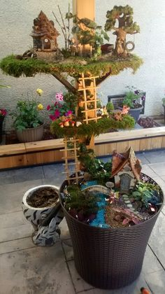 Three level Fairy garden