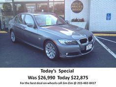 2011 BMW 328i XDrive AWD 38k miles. For the best deal on wheels call Jim Zim. @ 203-482-8417