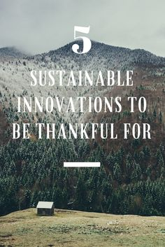 5 Sustainable Innovations to Be Thankful For