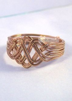 Bronze 8 Band Open Weave Princess Design Turkish Puzzle Ring  #Unbranded #PuzzleRing