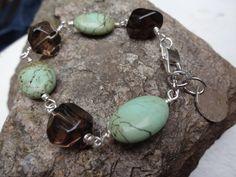 Handmade Bracelet Charm Bracelet Brown Smoky Quartz by YoursTrulli