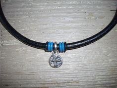 SALE 5mm Black Leather Wristband Bracelet by DesignsbyPattiLynn, $52.00
