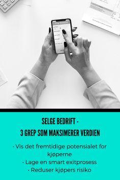 Fusjoner og oppkjøp kan være vanskelig å håndtere. Få hjelp fra Kari Bærvahr & Geir Samdal ved å klikke her! #OWNomics #KjøpeBedrift Selling A Business, Fitbit, Tips, Advice