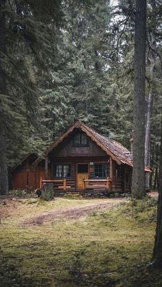 Cabins And Cottages: cabin in the woods Cabin In The Woods, Cottage In The Woods, Log Cabin Kits, Log Cabin Homes, Log Cabins, Mountain Cabins, Rustic Cabins, Little Cabin, Forest House