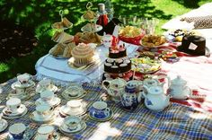 Picnic tea party - perfect idea for fun wedding or fab hen do - Inspiring image from Lovemydress.com