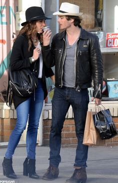 Nikki Reed and Ian Somerhalder Take Their Coffee With a Splash of PDA