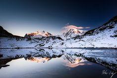 """Monte Rosa e Lyskamm em Riffelsee"", de Peter Wey, via 500px."