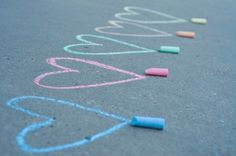 Playing with chalk!