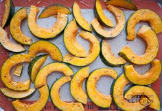 We got a kabocha squash in our winter farm share from Strites.  It is the most delicious squash ever!  I made this recipe, but used EVOO instead of trufle oil.  It is so sweet.  It tastes like a forbidden, fattening dessert!